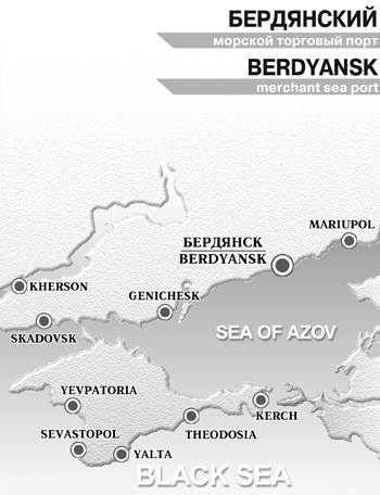 Berdynask Merchant Sea Port on map