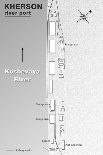 Scheme of Kherson River Port