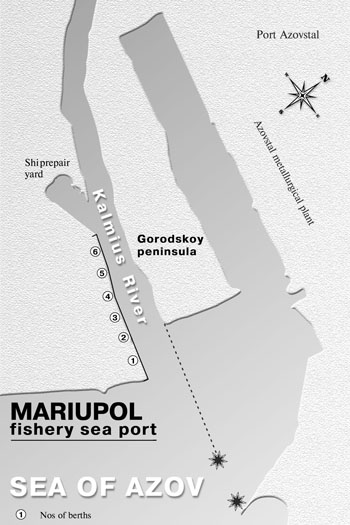 Scheme of Mariupol Fishery Port