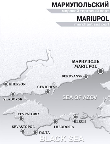 Mariupol Sea Port on Map