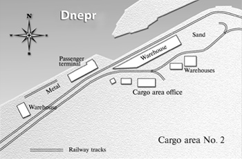 The scheme of Zaporozhye River port