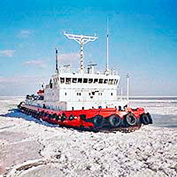 Ice in Sea of Azov